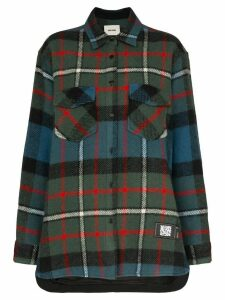 We11done oversized plaid shirt - Green