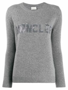 Moncler sequined logo jumper - Grey