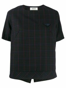 Zucca checked boxy T-shirt - Black