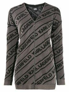 Karl Lagerfeld logo cardigan - Metallic