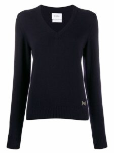 Barrie v-neck cashmere jumper - Blue