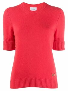 Barrie knitted cashmere top - Pink