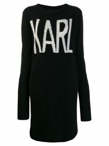 Karl Lagerfeld Karl Oui long jumper - Black