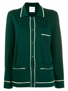 Barrie piped cashmere cardigan - Green