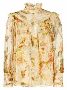 Zimmermann floral-print blouse - NEUTRALS