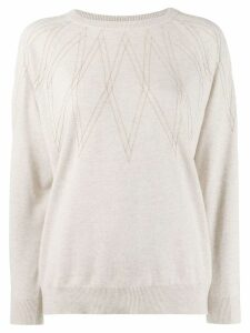 Brunello Cucinelli embellished jumper - Neutrals
