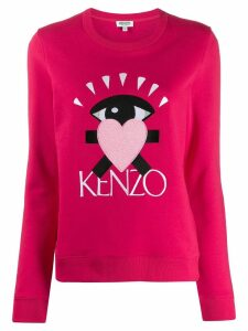 Kenzo Cupid embroidered logo sweater - PINK