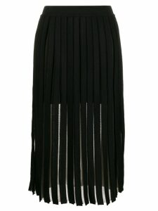 Balmain pleated midi skirt - Black