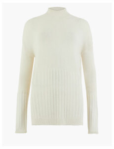 M&S Collection Funnel Neck Relaxed Fit Jumper