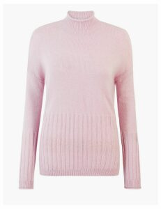 M&S Collection Turtle Neck Relaxed Fit Jumper