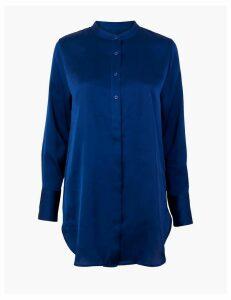 M&S Collection Satin Bib Longline Shirt