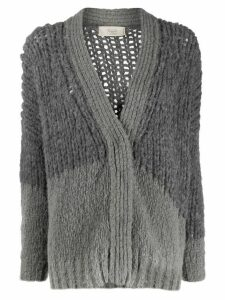 Maison Flaneur oversized two-tone cardigan - Grey