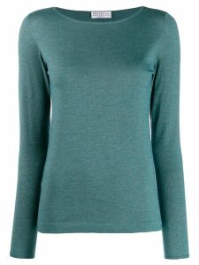 Brunello Cucinelli fine-knit jumper - Green