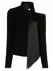 RtA Millie scarf cashmere jumper - Black