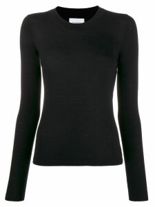 Barrie round-neck cashmere jumper - Black