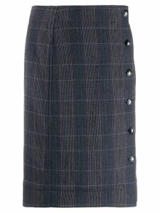 Chloé checked straight skirt - Blue