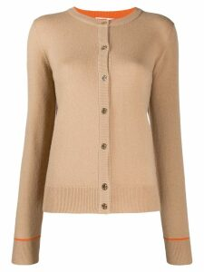 Tory Burch crew-neck knit cardigan - NEUTRALS