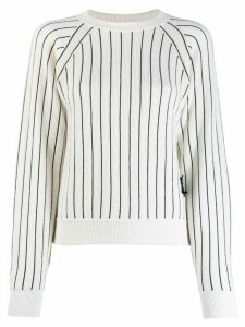 Barrie striped cashmere jumper - White