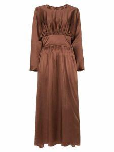 Deitas Hermine ruched detail dress - Brown