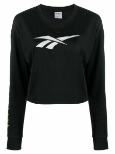 Reebok v-neck long-sleeved top - Black
