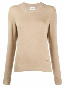 Barrie Round neck cashmere jumper - Brown