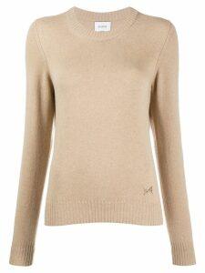 Barrie Round neck cashmere jumper - Brown
