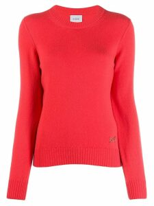 Barrie round neck cashmere jumper - Orange