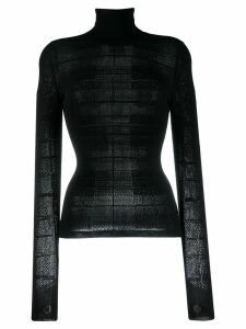 Barrie turtleneck knitted top - Black