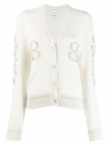 Barrie V-neck cashmere cardigan - White