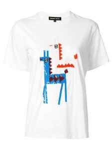 Markus Lupfer Anna sequinned llama T-shirt - White