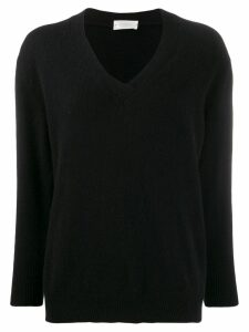 Zanone V-neck jumper - Black