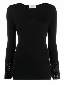 Snobby Sheep studded sleeve sweater - Black