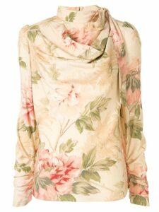 Zimmermann peony print blouse - NEUTRALS