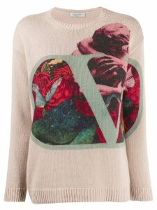 Valentino graphic print jumper - PINK
