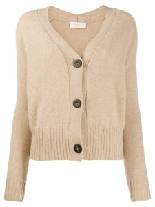 Zanone V-neck cardigan - NEUTRALS