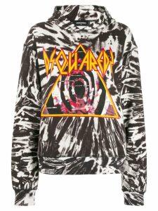 Dsquared2 tie-de logo hoodie - Black