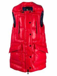 Moncler Grenoble puffer vest jacket - Red