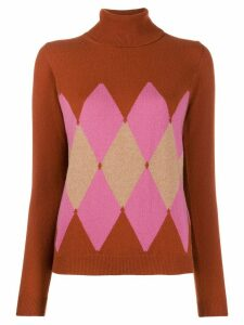 Ballantyne argyle knit jumper - Brown