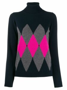 Ballantyne argyle knit jumper - Blue