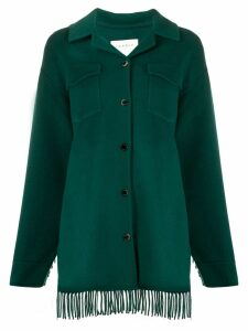 Sandro Paris fringed shirt jacket - Green