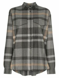 Totême Novella check shirt - Grey