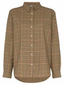 Totême Capri check print-shirt - Brown
