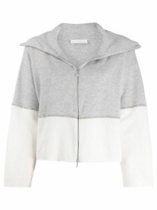 Fabiana Filippi two-tone zip-up cardigan - Grey