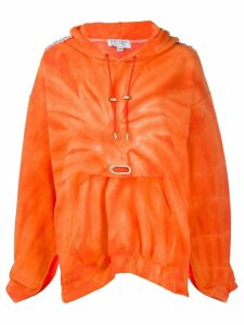 Collina Strada tie-dye print hoodie - ORANGE