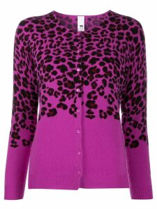 Ultràchic leopard print cardigan - PURPLE
