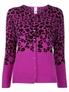 Ultràchic leopard print cardigan - PURPLE
