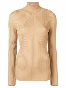 Victoria Beckham slim turtleneck jumper - NEUTRALS