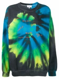 Collina Strada tie-dye print sweater - Grey
