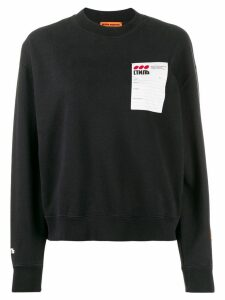 Heron Preston logo patch sweatshirt - Black