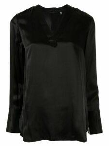 Elie Tahari 'Blaze' longline tunic blouse - Black